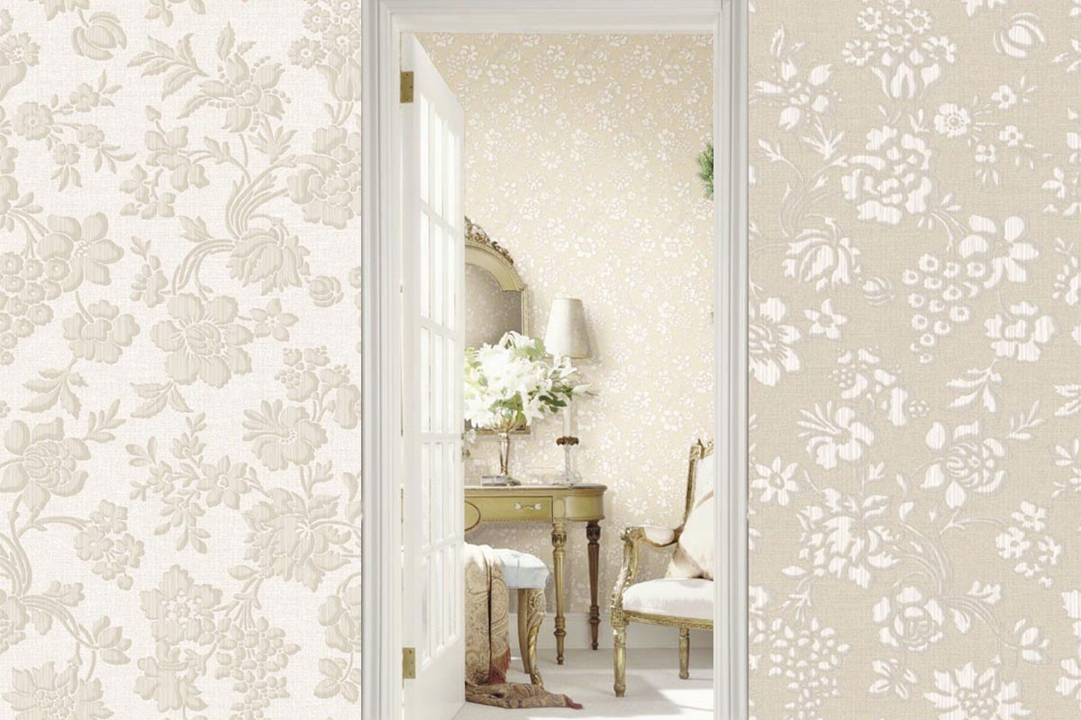 Stria Floral Toss   Evans & Brown for Brewster Home Fashions