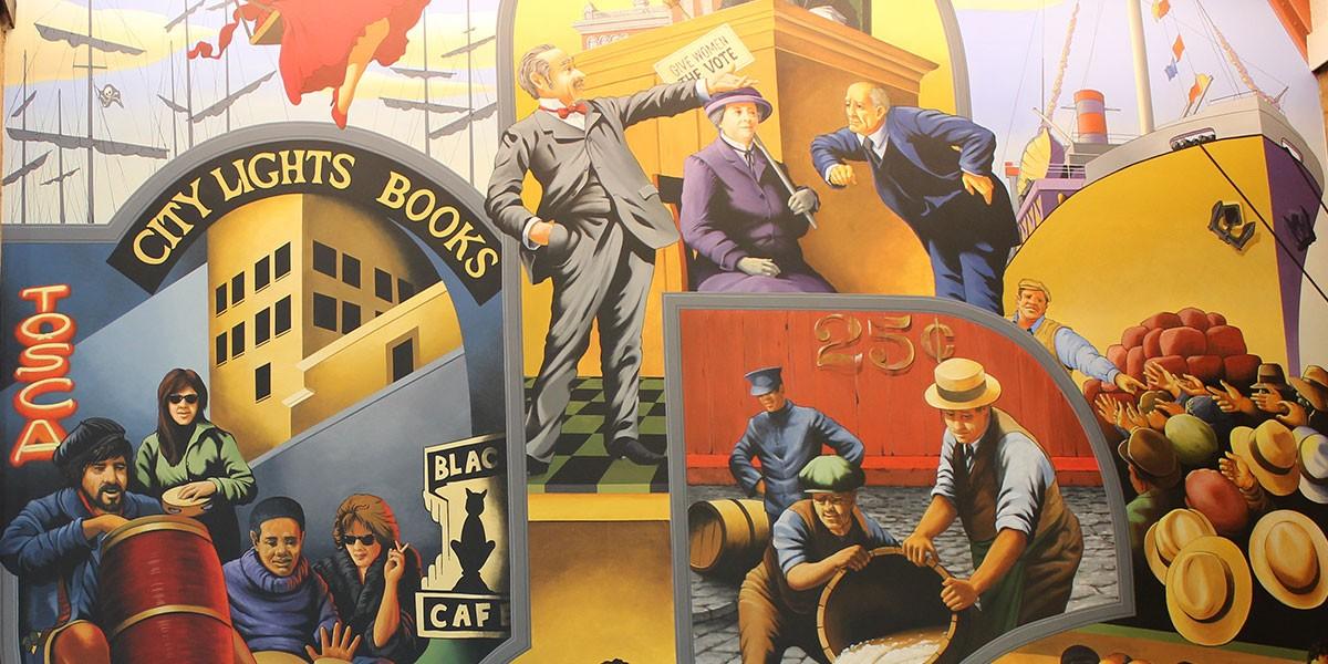Barbary Coast   Evans & Brown mural art