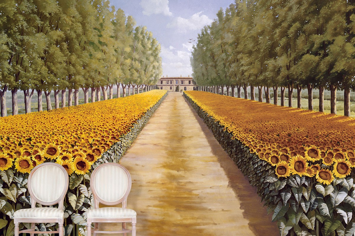 Sunflower Landscape | Evans & Brown for Koroseal