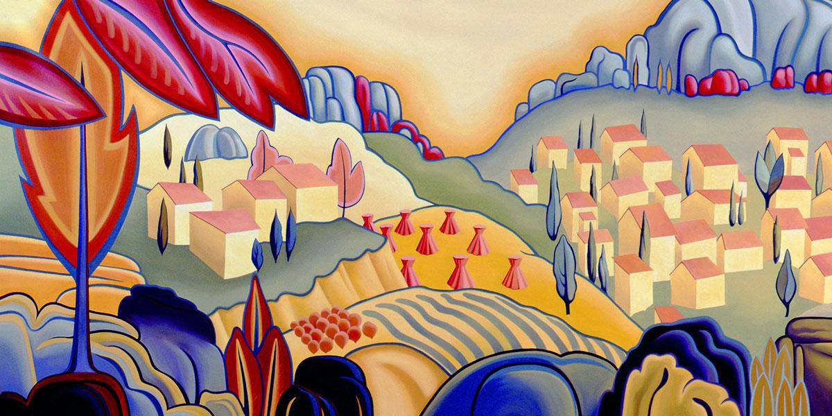 Design for Koroseal | Evans & Brown mural art