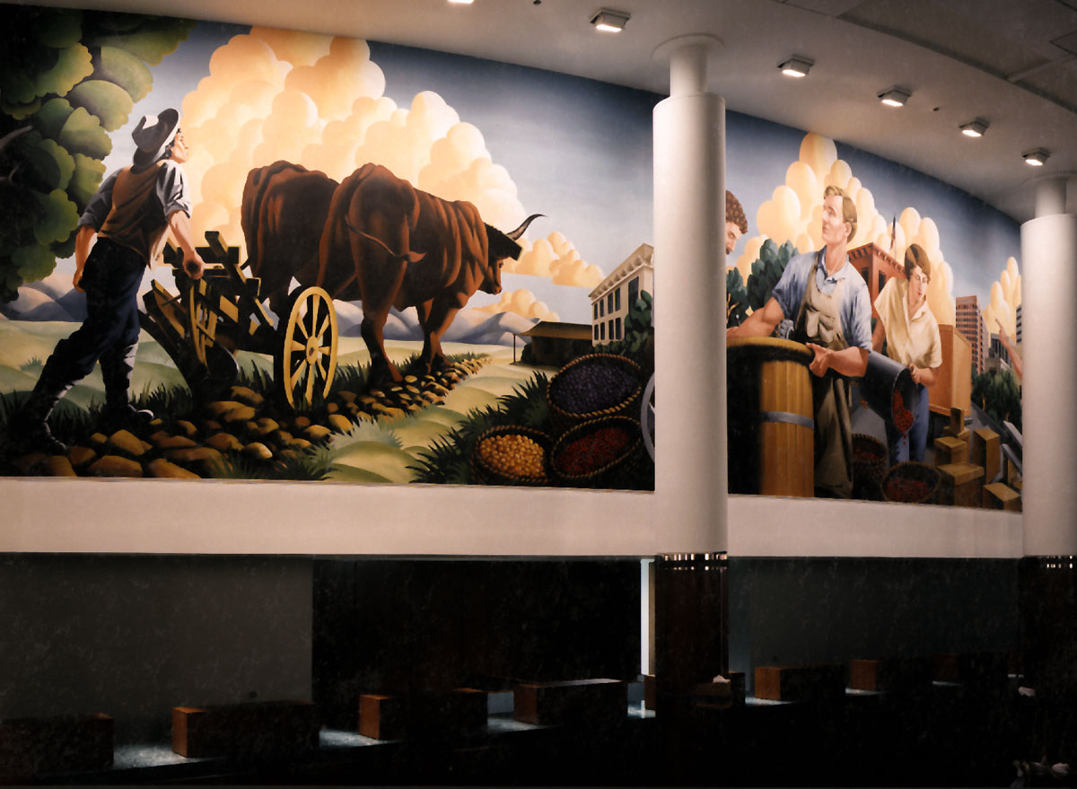 Bank of the West | Evans & Brown mural art
