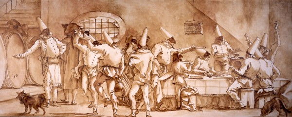 Renaissance cartoon | Evans & Brown Mural Art