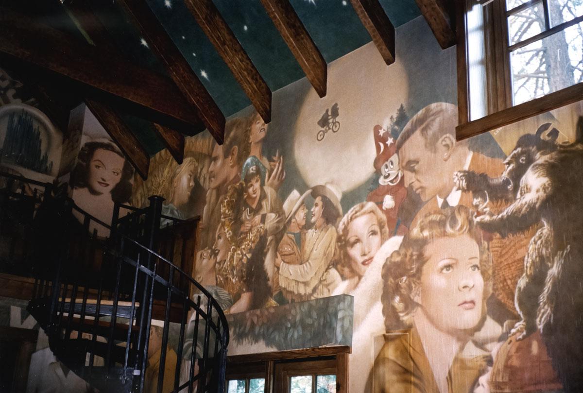 Screening room   Evans & Brown mural art