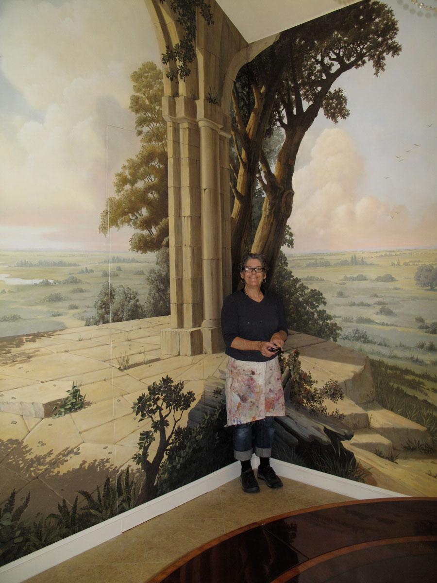 Dining room, private residence   Evans & Brown mural art
