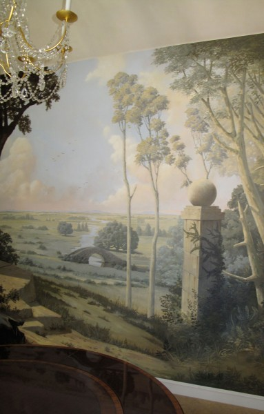 Dining room, private residence | Evans & Brown mural art