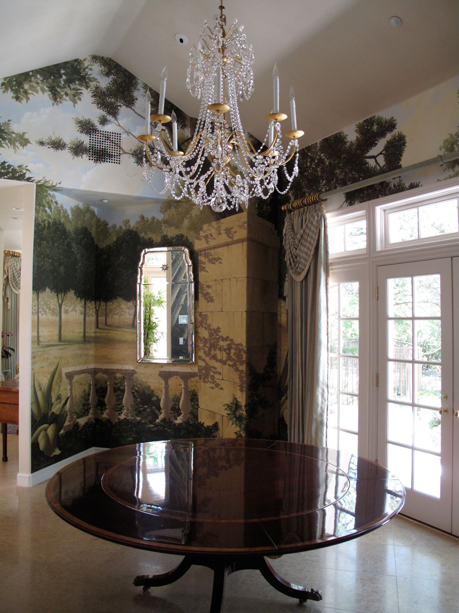 Dining room, private residence | Evans & Brown mural art
