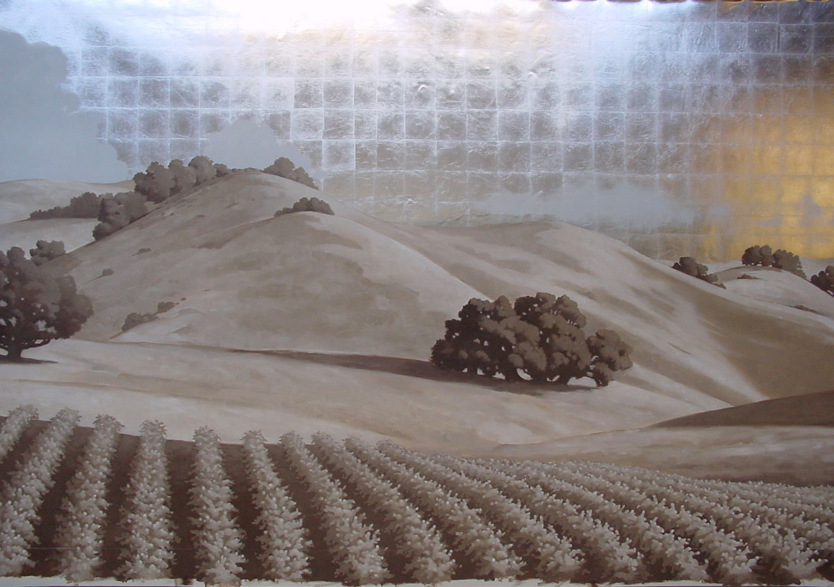 Wine country restaurant   Evans & Brown mural art