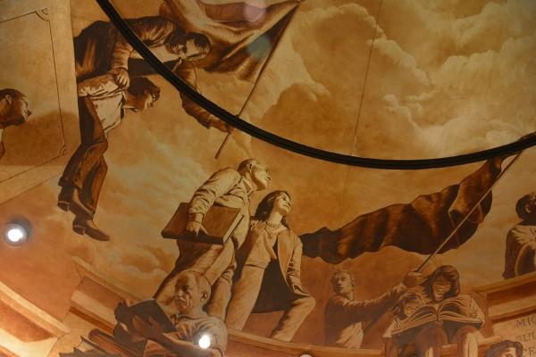 """Into the Light""   Evans & Brown mural art"