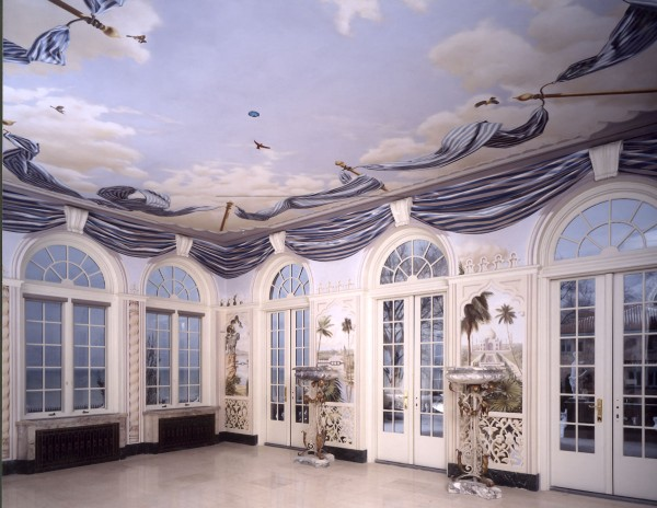 Solarium, private residence | Evans & Brown mural art