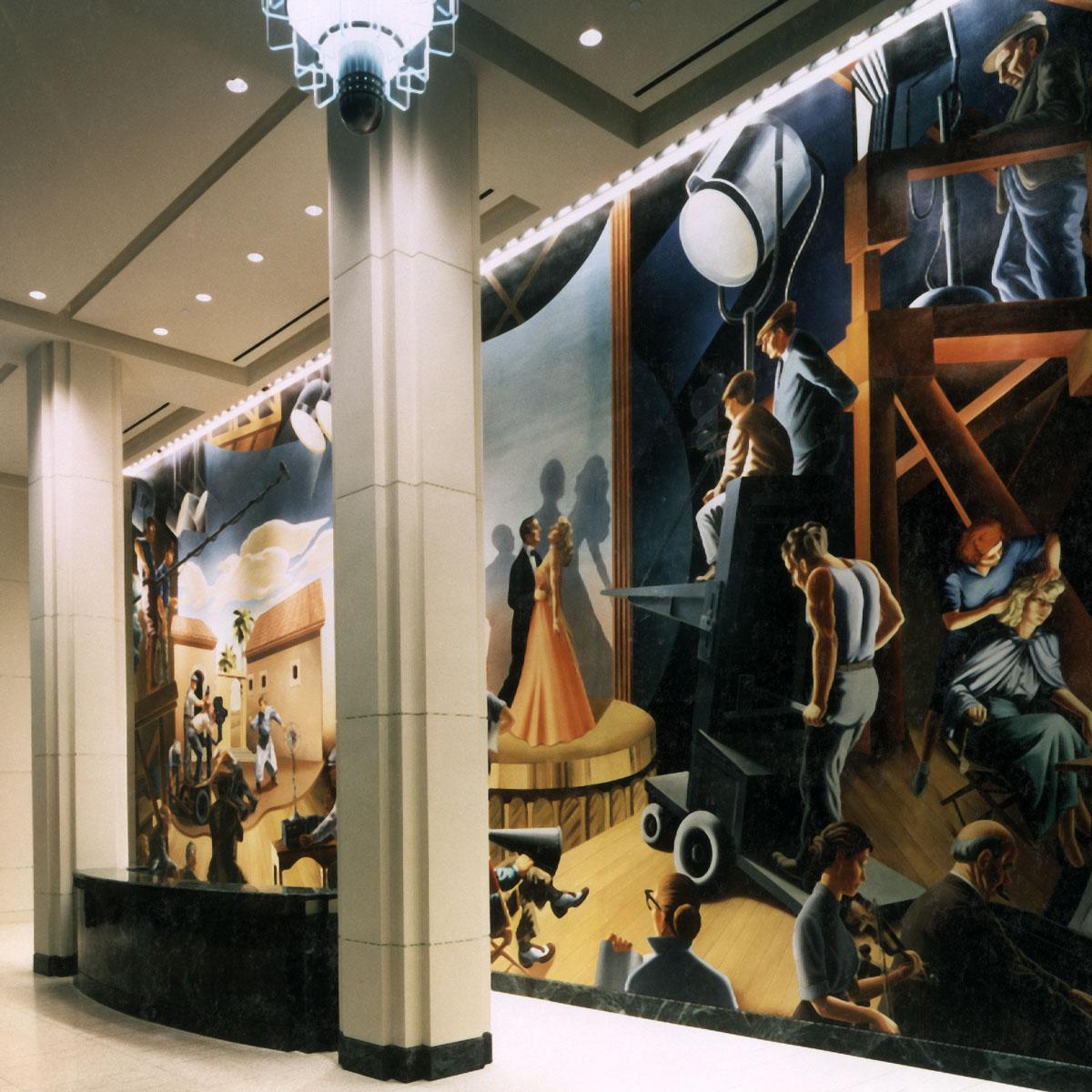 Sony Pictures   Evans & Brown mural art