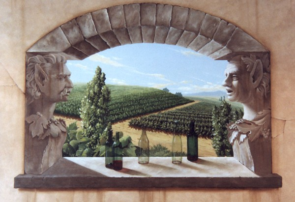 Private wine cellar   Evans & Brown mural art